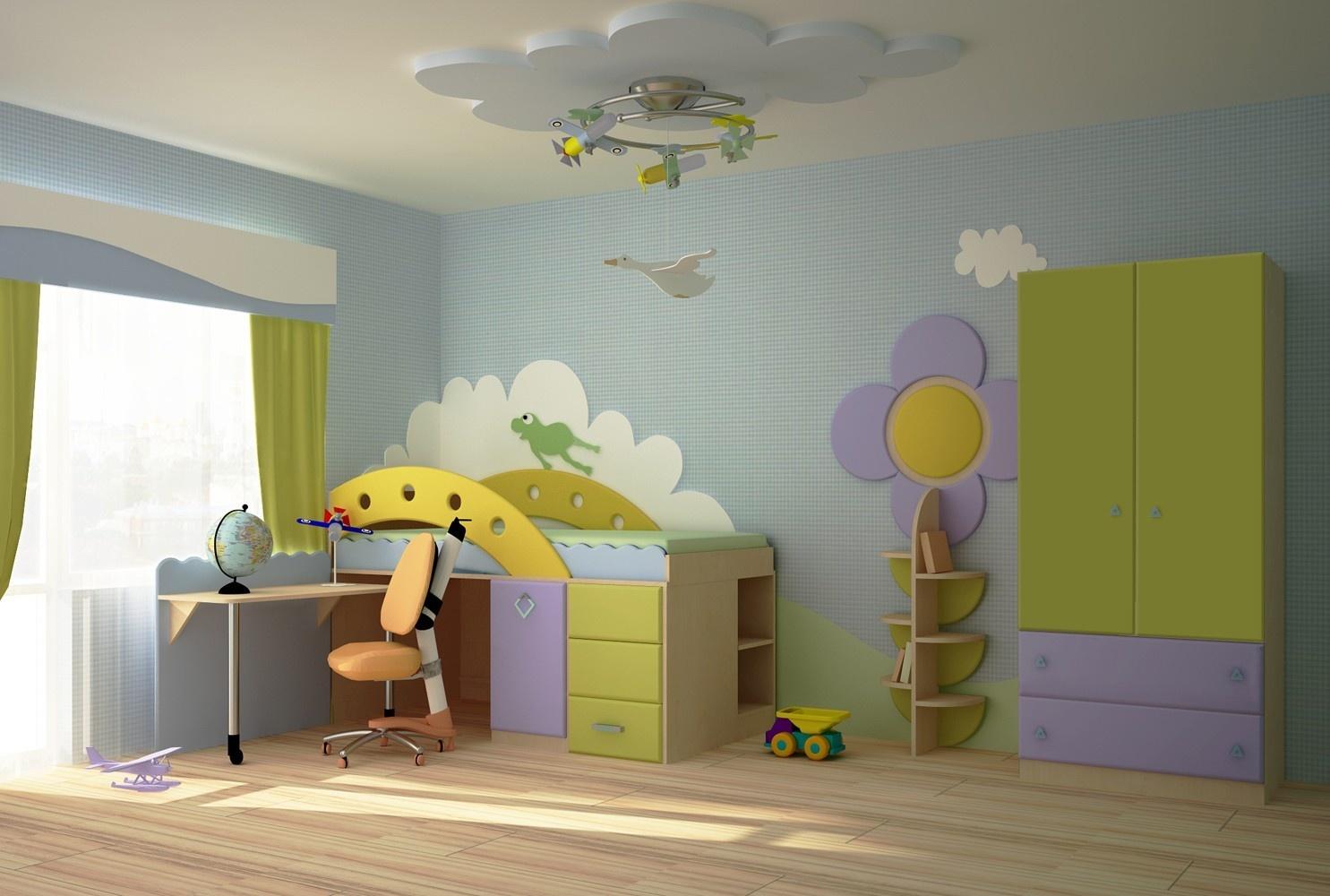 Детская комната своими руками недорого
